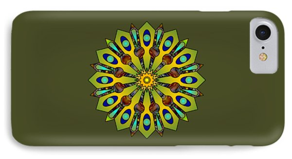 Psychedelic Mandala 004 A IPhone Case by Larry Capra