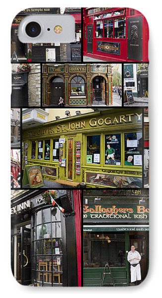 Pubs Of Dublin IPhone Case by David Smith