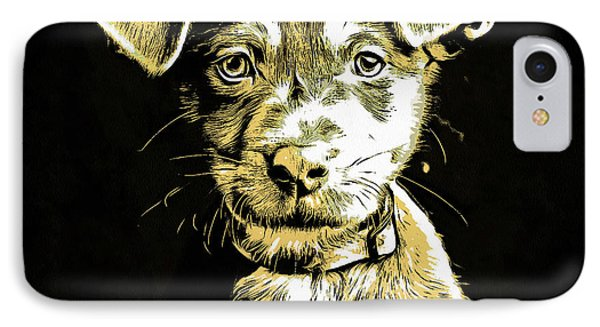 Puppy Dog Graphic Novel Drawing IPhone Case by Edward Fielding