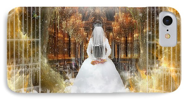 Pure Bride IPhone Case by Dolores Develde