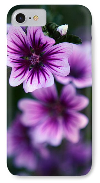 Purple Beauties IPhone Case by Cherie Duran