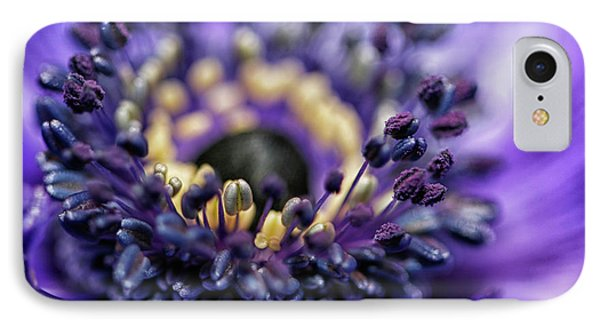 Purple Heart Of A Flower IPhone Case by Patricia Hofmeester