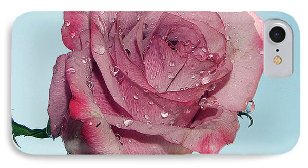 IPhone Case featuring the photograph Purple Rose by Elvira Ladocki