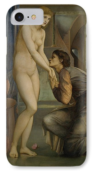 Pygmalion And The Image The Soul Attains  IPhone Case by Edward Burne-Jones