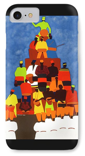 iPhone 7 Case - Pyramid Of African Drummers by Synthia SAINT JAMES