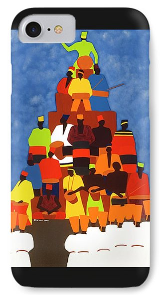 Pyramid Of African Drummers IPhone Case