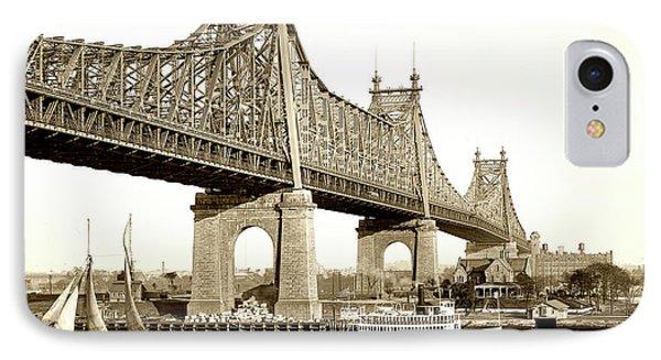 Queensboro Bridge - 1910 IPhone Case by L O C
