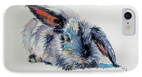 Rabbit IPhone Case by Kovacs Anna Brigitta