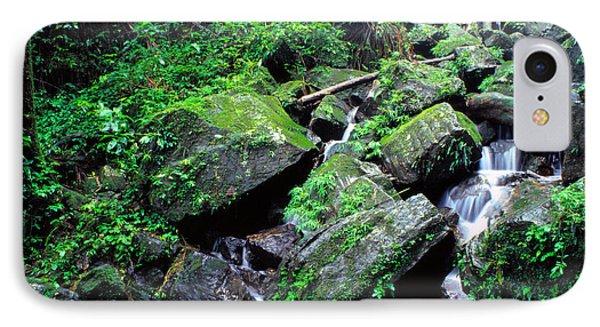Rainforest Waterfall Phone Case by Thomas R Fletcher
