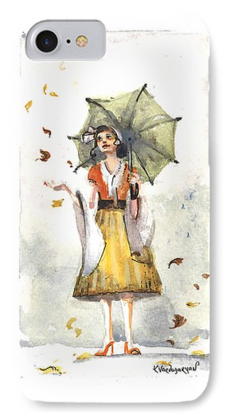 Rainy Day IPhone Case by Kristina Vardazaryan