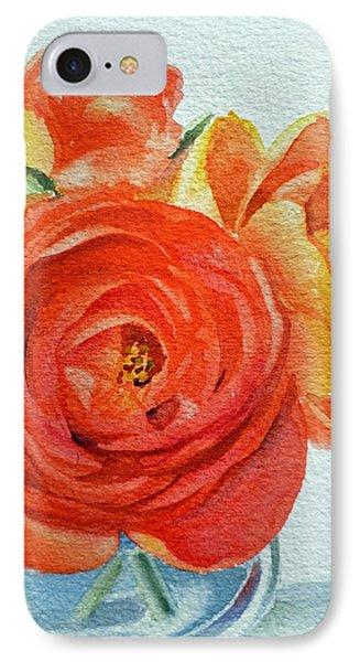 Rose iPhone 7 Case - Ranunculus by Irina Sztukowski