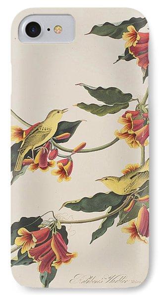 Rathbone Warbler IPhone 7 Case by John James Audubon