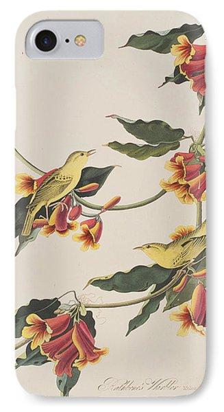 Rathbone Warbler IPhone Case by John James Audubon