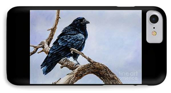 IPhone Case featuring the painting Raven by Igor Postash