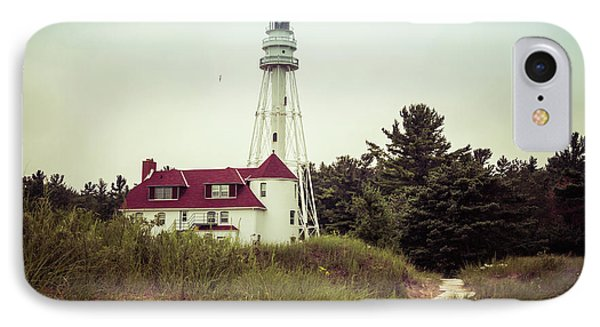 IPhone Case featuring the photograph Rawley Point Lighthouse by Joel Witmeyer
