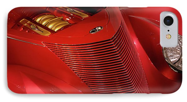 Red Classic Car Details Phone Case by Oleksiy Maksymenko