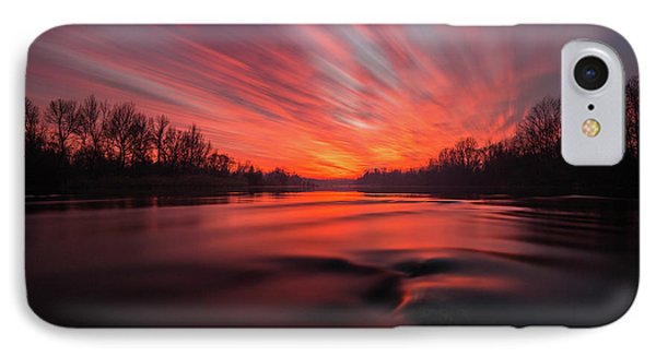 IPhone Case featuring the photograph Red Dusk by Davorin Mance