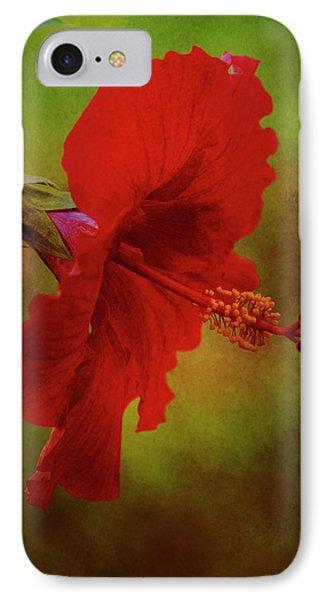 Red Hibiscus Art IPhone Case