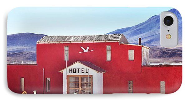 Red Hotel IPhone Case by Sandy Taylor