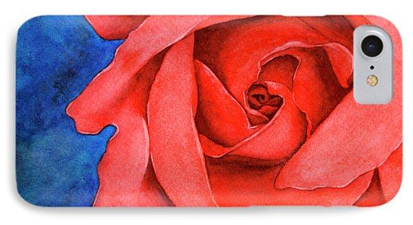 Red Rose IPhone Case by Rebecca Davis