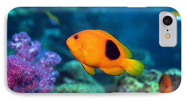 Red Saddleback Anemonefish And Soft Coral Phone Case by Georgette Douwma