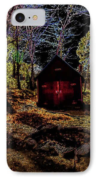 Red Shed IPhone Case by Randy Sylvia