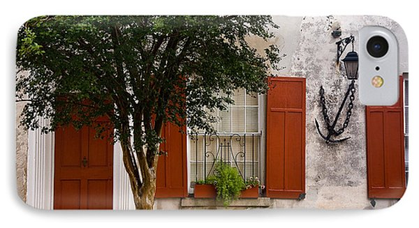 Red Shutters IPhone Case by Susan Cole Kelly