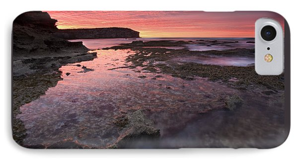 Kangaroo iPhone 7 Case - Red Sky At Morning by Mike  Dawson