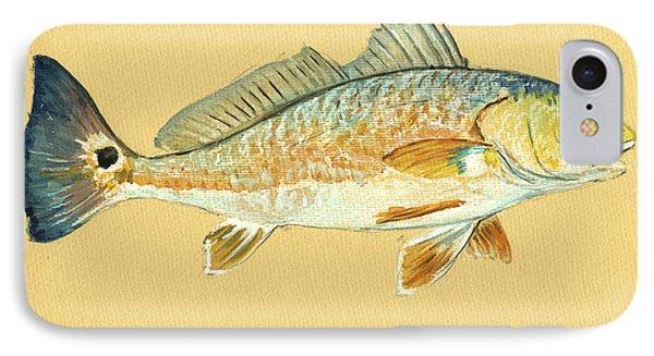 Miami iPhone 7 Case - Redfish Painting by Juan  Bosco