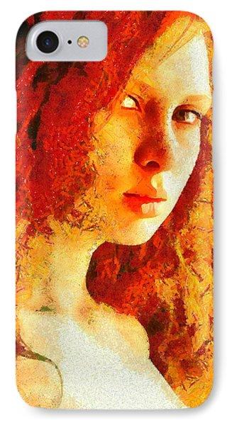 Redhead IPhone Case by Gun Legler