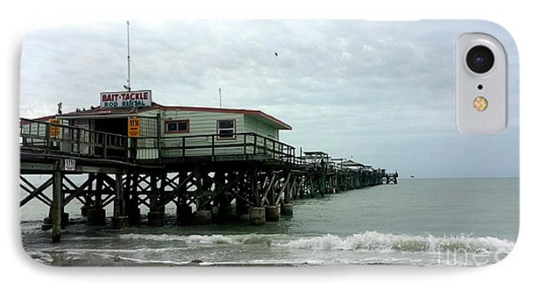 Redington Beach, Florida Fishing Pier IPhone Case by Scott D Van Osdol