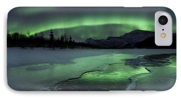 Reflected Aurora Over A Frozen Laksa IPhone Case