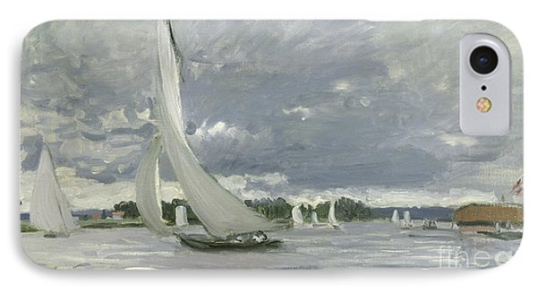 Regatta At Argenteuil IPhone Case by Claude Monet