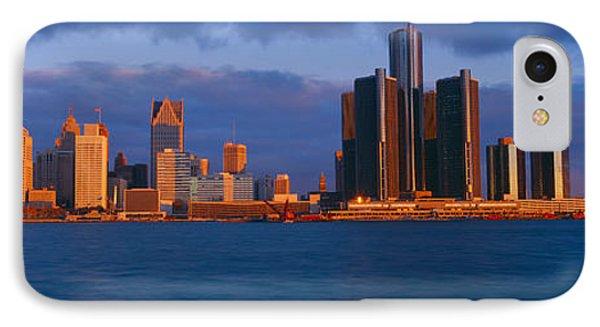 Renaissance Center, Detroit, Sunrise IPhone Case by Panoramic Images