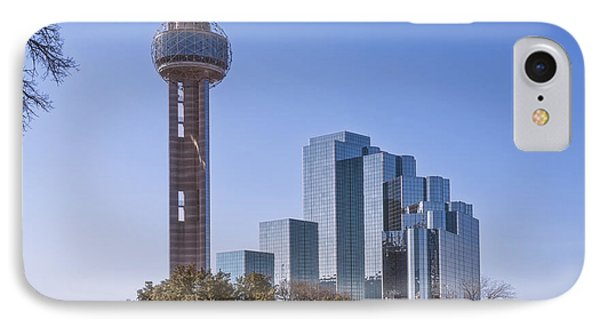Reunion Tower Dallas II IPhone Case by Joan Carroll