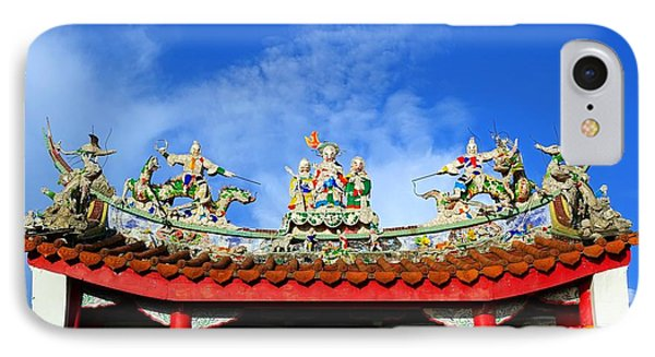 IPhone Case featuring the photograph Richly Decorated Chinese Temple Roof by Yali Shi