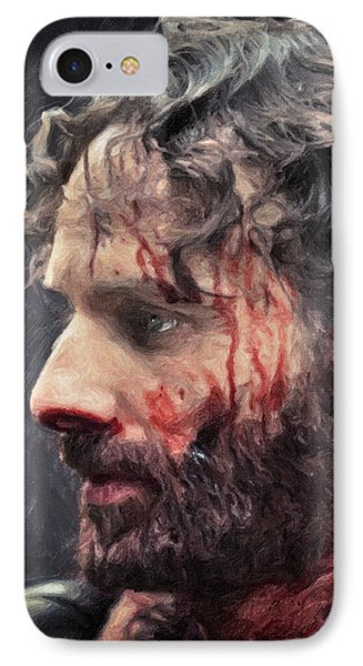 Rick Grimes IPhone Case by Taylan Apukovska