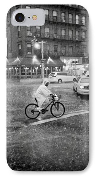IPhone Case featuring the photograph Rider In The Rain by Dave Beckerman