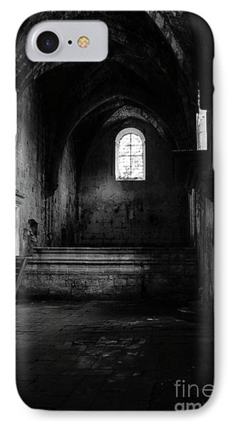IPhone Case featuring the photograph Rioseco Abandoned Abbey Nave Bw by RicardMN Photography