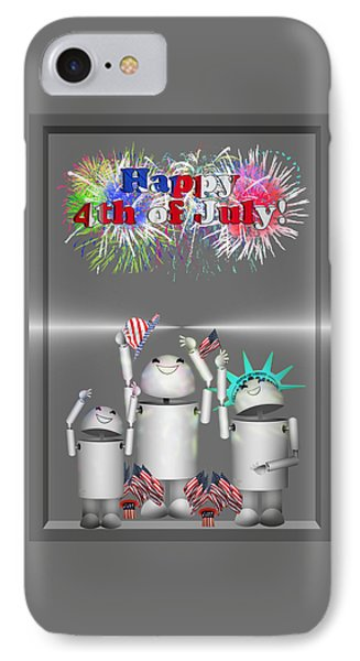 Robo-x9 Celebrates Freedom IPhone Case by Gravityx9  Designs