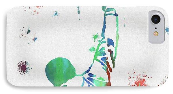 Rocky Balboa Paint Splatter IPhone Case by Dan Sproul