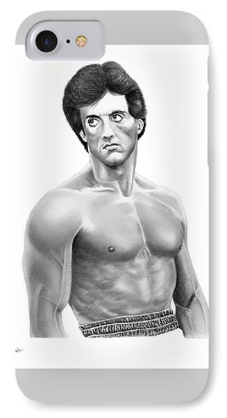 Rocky-sylvester Stallone IPhone Case by Murphy Elliott