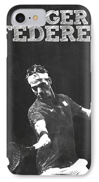 Roger Federer IPhone Case by Semih Yurdabak