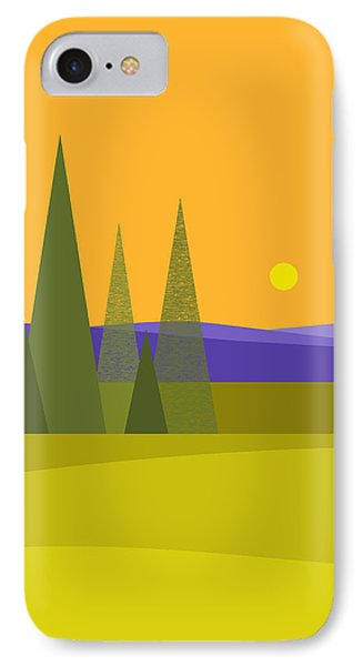 Rolling Hills IPhone Case by Val Arie