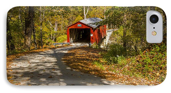 Rollingstone Covered Bridge  IPhone Case by Jack R Perry