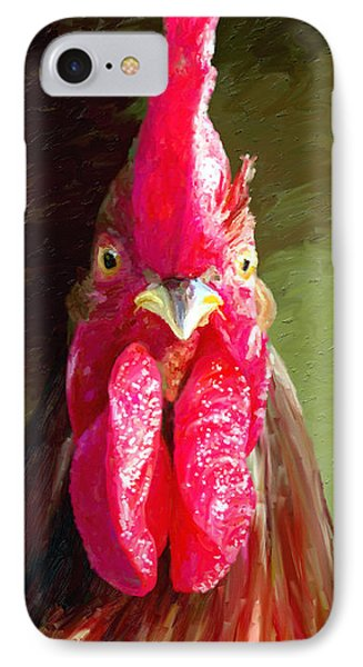 IPhone Case featuring the painting Rooster 1 by James Shepherd