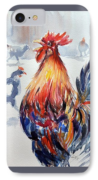 Rooster IPhone Case by Kovacs Anna Brigitta