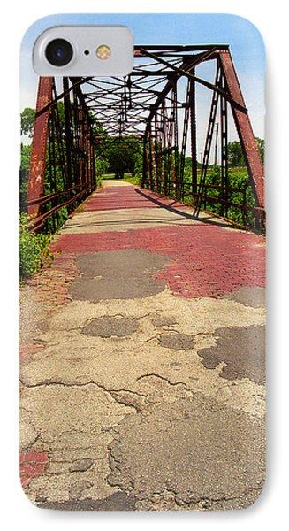 Route 66 - One Lane Bridge IPhone Case by Frank Romeo