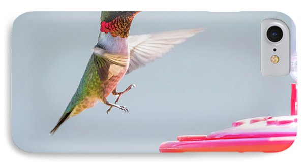 IPhone Case featuring the photograph Ruby-throated Hummingbird  by Ricky L Jones