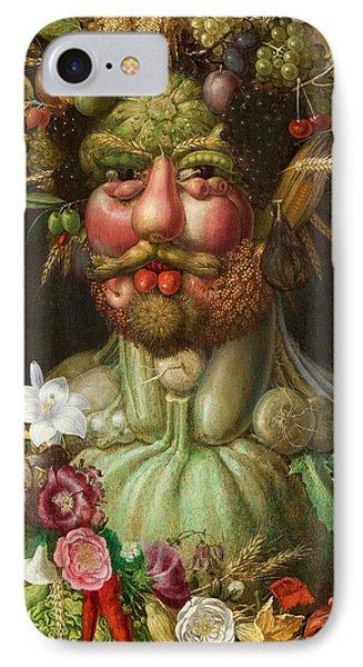 Rudolf II Of Habsburg As Vertumnus IPhone Case by Giuseppe Arcimboldo